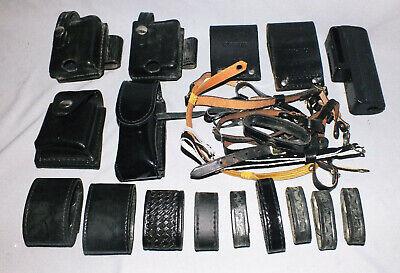 Large Lot Of Police Duty Belt Gear
