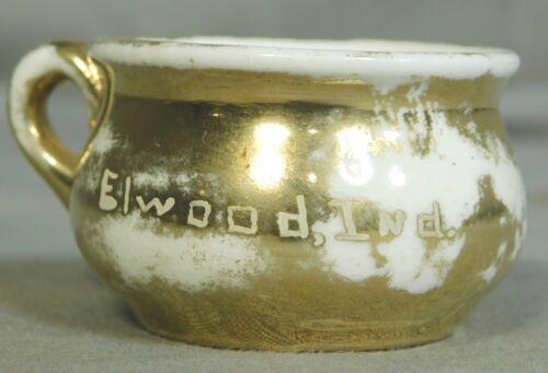Antique Germany Porcelain Miniature Potty Vintage Elwood INdiana Poop inside OLD