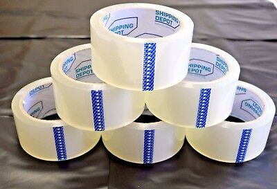 72 Rolls Clear Packing Carton Sealing Box Tape 1.6mil 2
