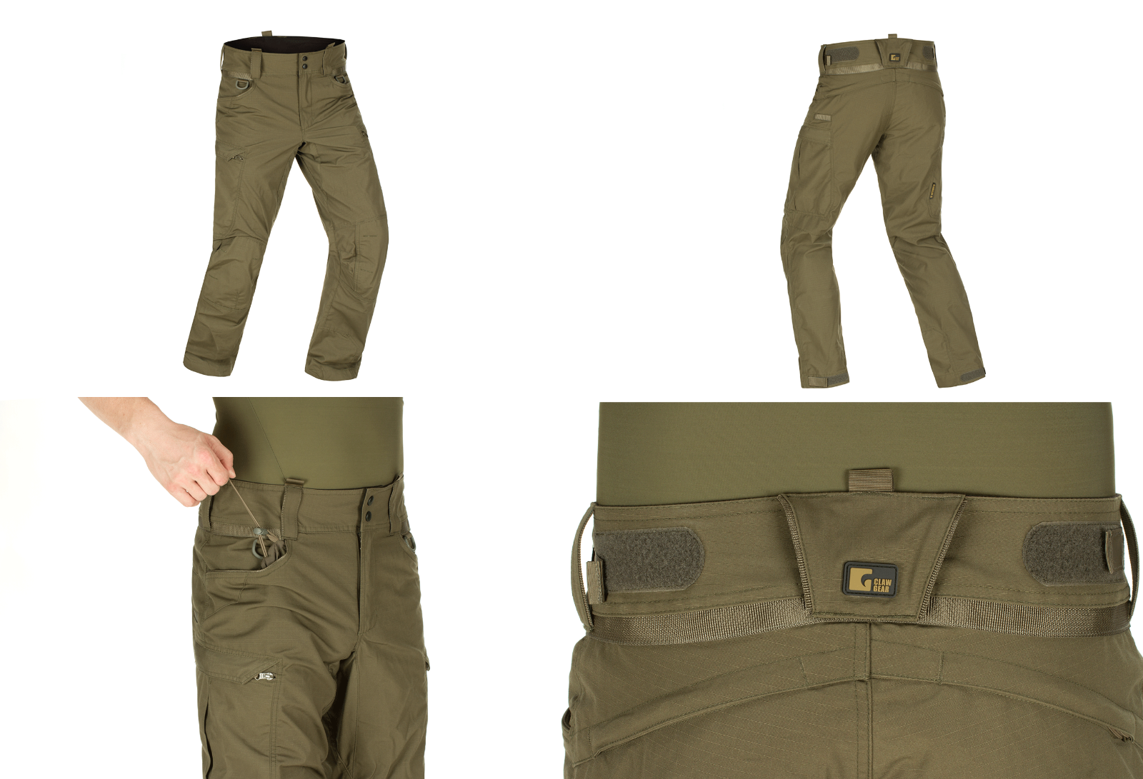 Claw Gear Operator Pantaloni Combat Pant Knee Verde Green Ral7013 Size 54 R -  - ebay.it
