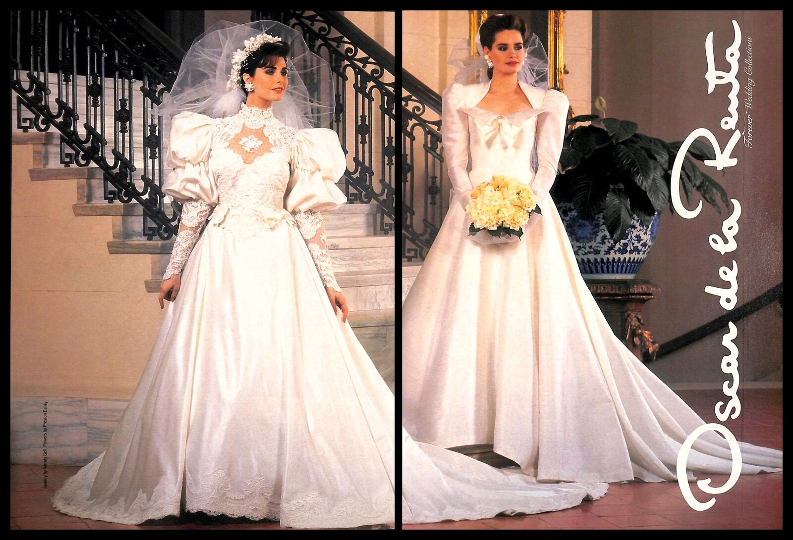Oscar De La Renta Wedding Dresses.Details About 1987 Oscar De La Renta Wedding Dress Vintage Print Ad Marriage Bride Newlywed