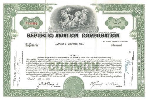 Republic Aviation Corporation > Seversky Aircraft Corporation stock certificate