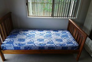 Timber King Single bed with mattress × 2 Toowoomba Toowoomba City Preview