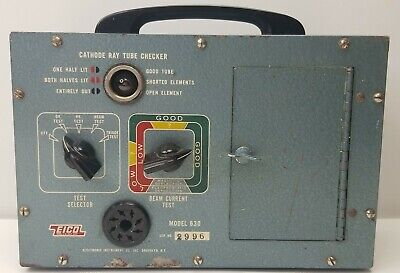 Vintage Eico 630 Cathode Ray Tube Checker Powers Up But Selling As Is Untested