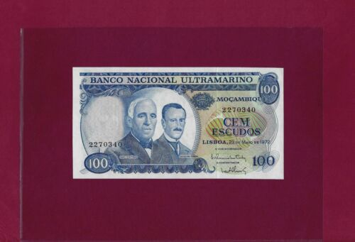 PORTUGAL Mozambique 100 Escudos 1972 P-113 UNC