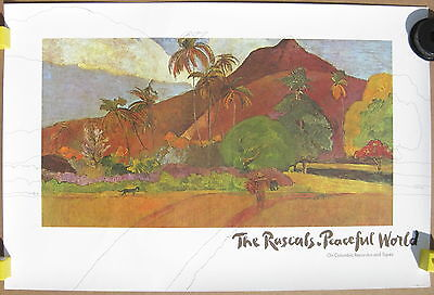 The RASCALS Peaceful World 1971 US Columbia Records PROMO POSTER Felix Cavaliere