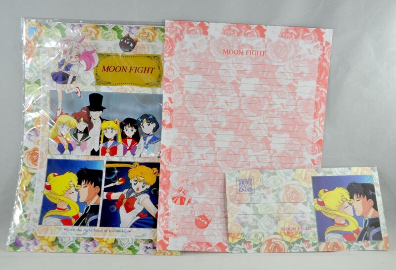 Vintage Sailor Moon Stationary New in Package 1997 Hot Topic