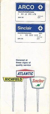 1970 ARCO Atlantic Richfield Road Map TACOMA Washington Kent Auburn McChord AFB