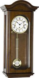 (New!) BROOKE (Walnut) Chiming Wall Regulator Clock 70815-Q10341 Hermle Clocks