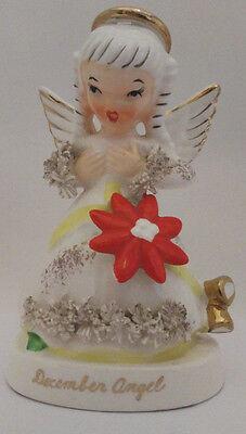 Vintage Napco December Angel Figurine Spaghetti Girl Perfect Condition