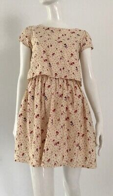 80s Dresses | Casual to Party Dresses 1980's Holly Hobbie Faux Two Piece Vintage Dress $23.19 AT vintagedancer.com
