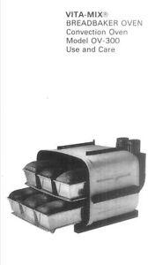 Maxim ov 300 breadbaker convection oven roaster broiler owners manual