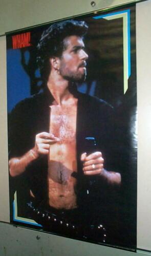 GEORGE MICHAEL WHAM Stage 1986 Vintage Poster