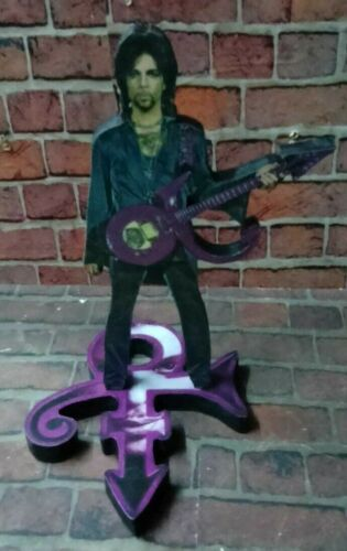 "PRINCE DISPLAY 8"" STANDEE Figure Statue Cutout Standup Pop Rock Music cd dvd lp"