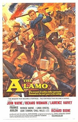 THE ALAMO ~ 1960 27x41 MOVIE POSTER John Wayne Richard Widmark Western
