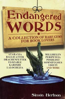 ENDANGERED WORDS RARE GEMS FOR BOOK LOVERS SIMON - Endangered Book
