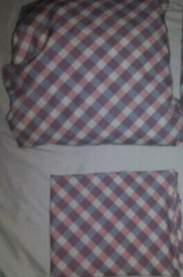 Tommy Hilfiger Full Fitted Sheet and 2 Std Pillowcases Red White Blue Preowned 2 Tommy Hilfiger Pillowcases