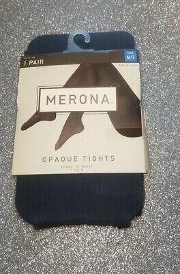 Merona Premium Opaque Tights Sheer to Waist Size M/T Grey Fashion medium tall