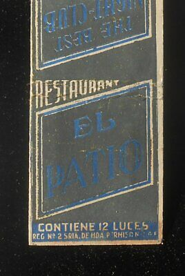 1930s Tax Stamp El Patio Restaurant The Best Night Club in Mexico City DF