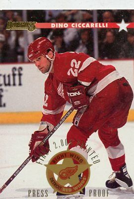 DINO CICCARELLI  1996-97 DONRUSS PRESS PROOF  1 of 2000 #150 Detroit Red Wings