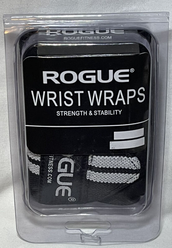 """Rogue Fitness Wrist Wraps PAIR SMALL 12"""" Black Power Weightlifting Exercise"""