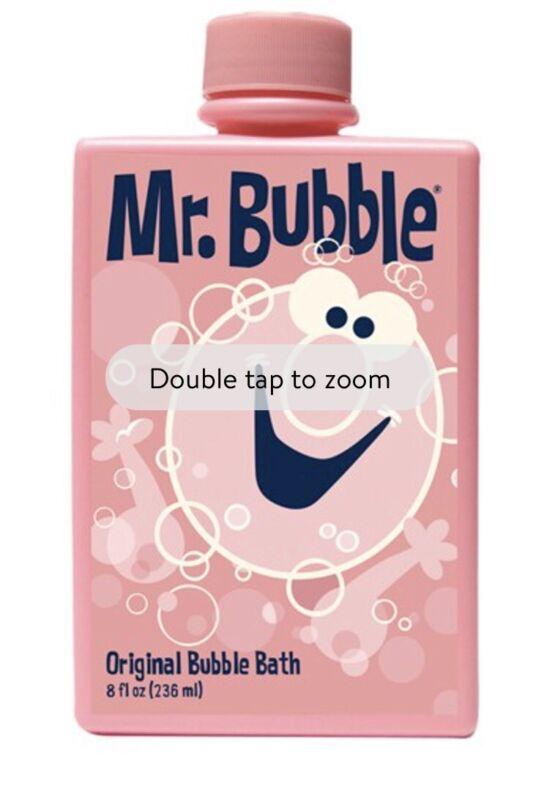 Pink Retro Mr Bubble Original Bubble Bath 8oz Factory Sealed