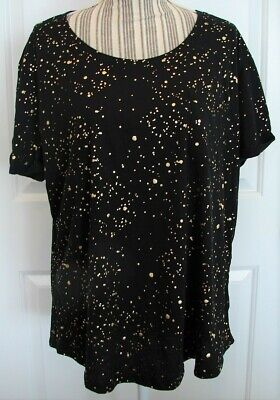Women's a.n.a Black & Gold polka dots top Size XXL New with Tags New $19