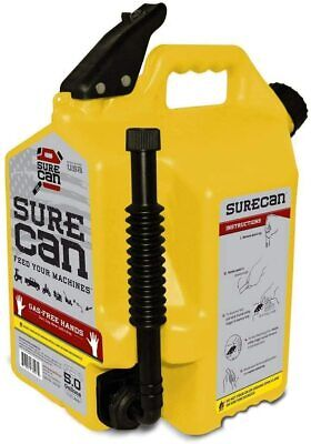 Surecan 5 Gallon 19 Liter Self Venting Diesel Fuel Can Wrotating Spout Yellow