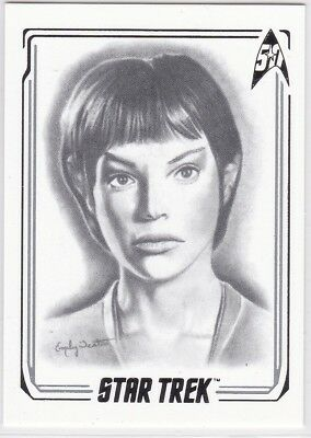 STAR TREK 50TH ANNIVERSARY ARTIFEX INSERT CARD A45 JOLENE BLALOCK AS CMDR T'POL
