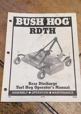 Bush Hog Rdth Operators Manual 1j-2095-x19