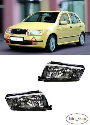 Right PAIR SKODA Fabia Praktik VW Polo 2002 Front Fog Lights Lamps Left