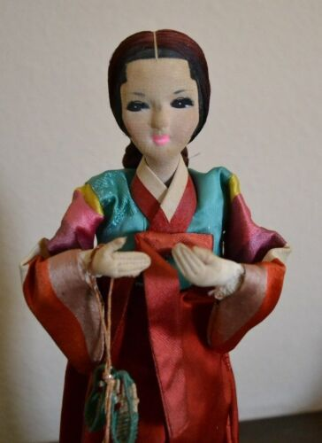 "Antique / Vintage Korean Doll Figurine 11"""