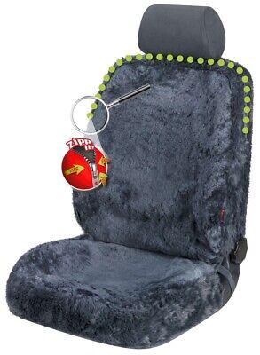 Reißverschluss Autositz Felle, komplettes überspannen, ZIPP IT, echtes Lammfell - Lammfell Reißverschluss Vorne