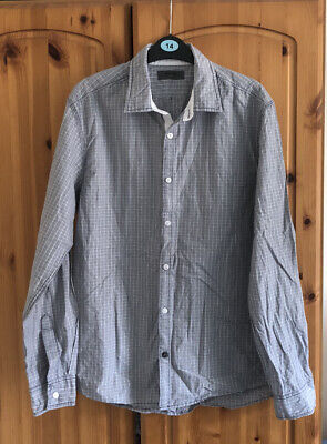 Mens Long Sleeve Cotton Shirt - Burton - Medium