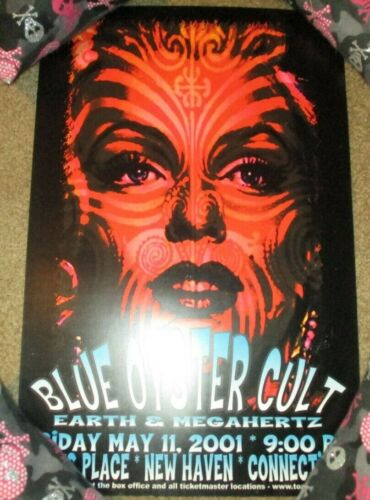 BLUE OYSTER CULT concert gig poster print NEW HAVEN 5-11-01 2001 Scott Benge