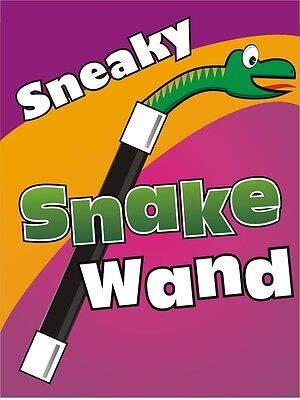 (Comedy JUMBO SNEAKY SNAKE MAGIC WAND Spring Out Trick Kid Show Clown Pop Up Prop)
