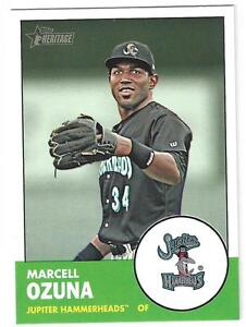 2012 Topps Heritage Minor League #122 Marcell Ozuna Marlins