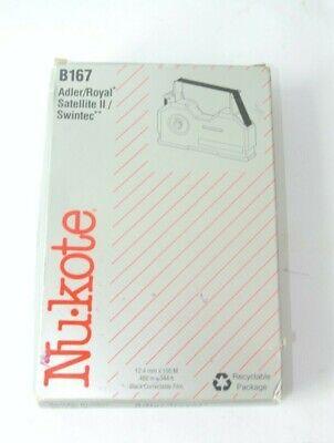 Nukote B167 Typewriter Replacement Ribbon Adlerroyal Satellite Ii Swintec