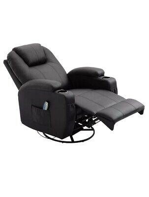 Massage Recliner Sofa Chair Lounge Swivel  Vibrating Heated With Remote Control