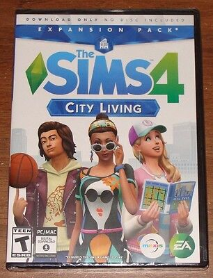 The Sims 4  City Living Expansion Pack For Pc  Windows Or Mac  New   Sealed