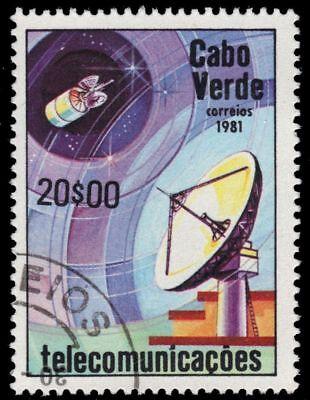 """CAPE VERDE 434 (Mi443) - Telecommunications """"Dish Antenna"""" (pa57701)"""