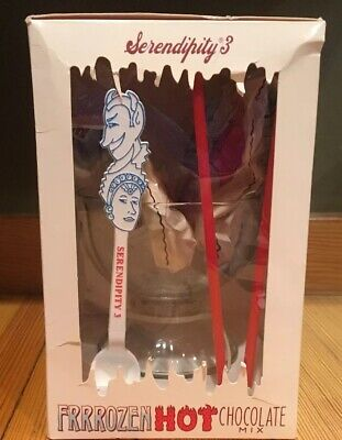Serendipity 3 New York Frrrozen Hot Chocolate Mix Gift Set Footed Goblet ++ READ Goblet Gift Set