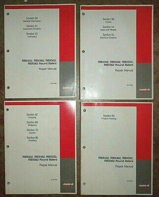 Case Ih Rbx452 Rbx462 Rbx552 Rbx562 Round Baler Service Repair Manual Original