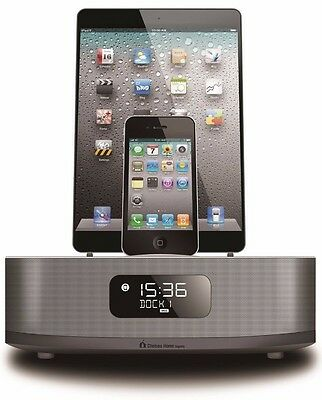 Chelsea Apple Certified DUAL DOCKING CLOCK RADIO FOR IPHONE 4-IPHONE 5-IPHONE 6