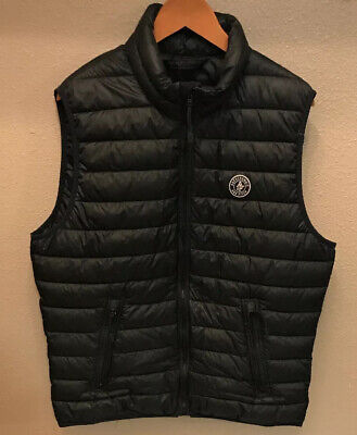 Mens Abercrombie & Fitch Black Puffer Vest Large