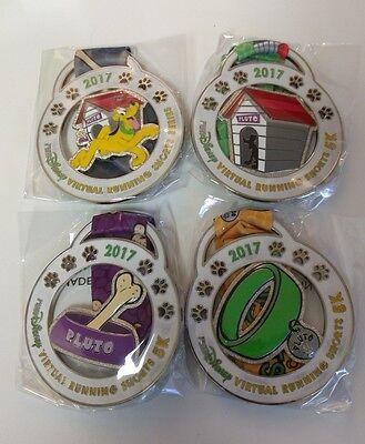 Rundisney 2017 Virtual Running Shorts Pluto Series 5K Medals   Set Of 4