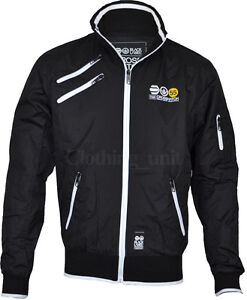 Mens Crosshatch Jacket KIZA Coat Windbreaker Track Top Summer