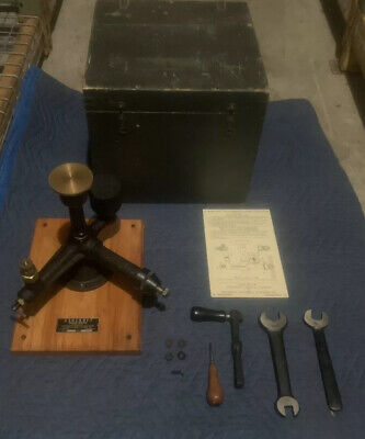 Ashcroft Type 1300 Dead Weight Gauge Calibration Tester Set Steampunk Military