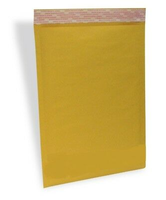 100 5 10.5x16 Eco Kraft Bubble Padded Envelopes Mailers Lite Shipping Bags