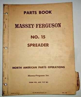 Massey Ferguson 15 Manure Spreader Parts Catalog Manual Book Original Mf 462